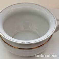 Antigüedades: ESCUPIDERA ORINAL, CON CENEFA DORADA. ESCUP-17. Lote 296810133