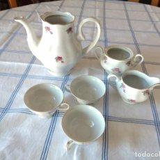 Antigüedades: LOTE DE PORCELANA FAVOLINA MADE IN POLAND ,SERVICIO DE CAFÉ INCOMPLETO 6 PIEZAS.. Lote 296814493