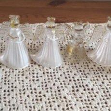 Antigüedades: ANGELES DE CRISTAL PARA COLGAR. Lote 296855503