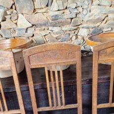 Antigüedades: DOCENA SILLAS DE COMEDOR. Lote 296908183