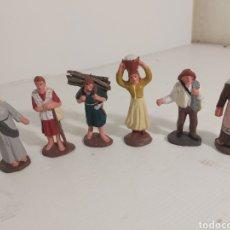 Antigüedades: SEIS FIGURAS BELEN DE TERRACOTA. Lote 296955298