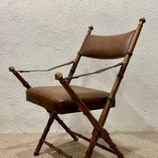 Antigüedades: SILLA DE CAMPAÑA CIRCA 1.920. Lote 297095038