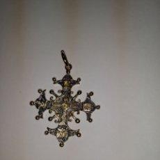 Antigüedades: CRUZ DE PLATA Y PLATA DORADA. Lote 297105913