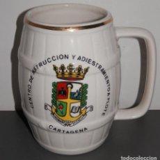 Antigüedades: ANTIGUA JARRA DE LA CARTUJA - CENTRO DE INSTRUCCCION Y ADIESTRAMIENTO A FLOTE. Lote 297108023