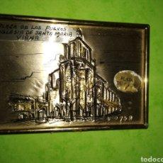 Antigüedades: PEQUEÑO CUADRO HECHO DE PLATA 1° LEY. Lote 297160703