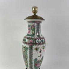 Antigüedades: LAMPARA CON JARRON DE PORCELANA CHINA. PRINCIPIOS S.XX.. Lote 297256938