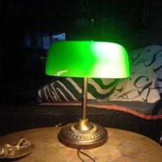 Antigüedades: LAMPARA DE BANQUERO. Lote 297347138