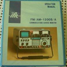 Radios antiguas: MANUAL DE USO, EN INGLES DEL IFR 1200S_A...SANNA. Lote 13364708