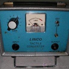 Radios antiguas: APARATO ELECTRONICO DE MEDIDA O REPARACION TECNICA TACTILE CONVERTER LINCO. Lote 21928672