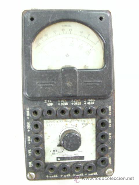 ANTIGUO APARATO DE MEDIDA PARA RADIOS Y OTROS (Radios - Aparatos de Reparación y Comprobación de Radios)