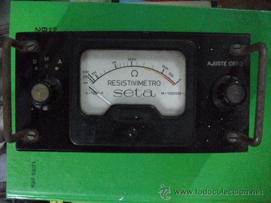 RESISTIMETRO MARCA SETA - AÑOS DEL 4O AL 50 (Radios - Aparatos de Reparación y Comprobación de Radios)