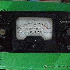 Radios antiguas: RESISTIMETRO MARCA SETA - AÑOS DEL 4O AL 50. Lote 30619657
