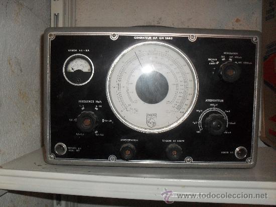 GENERADOR DE FRECUENCIAS PHILIPS - FUNCIONANDO (Radios - Aparatos de Reparación y Comprobación de Radios)