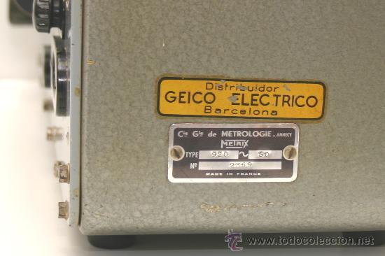 Radios antiguas: GENERADOR DE SERVICIO Mod.920C METRIX ANNECY FRANCE - Foto 6 - 33233385