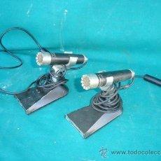 Radios antiguas: 2 MICROS DE METAL PARA MAGNETOFONOS. Lote 33746506