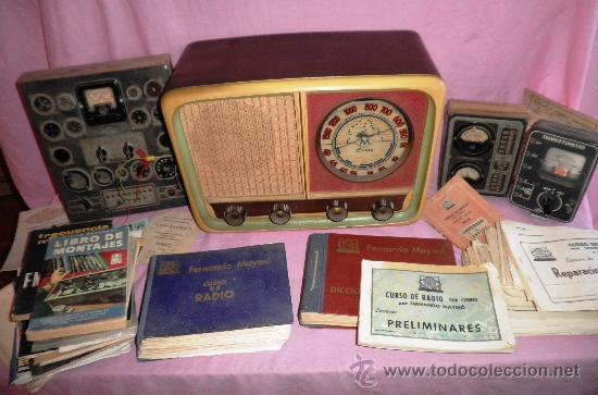 EQUIPO ORIGINAL CURSO DE RADIO MAYMO - AÑOS 1950 - EXPECTACULAR. (Radios - Aparatos de Reparación y Comprobación de Radios)