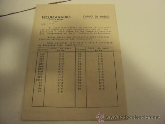 Radios antiguas: COMPROBADOR DE VALVULAS - Foto 5 - 36461365