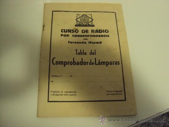 Radios antiguas: COMPROBADOR DE VALVULAS - Foto 6 - 36461365