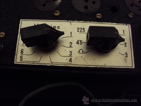 Radios antiguas: COMPROBADOR DE VALVULAS - Foto 11 - 36461365