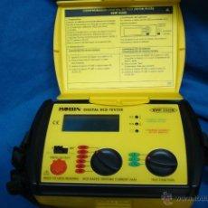 Radios antiguas: - COMPROBADOR DIGITAL DE RCD MARCA ROBIN KMP2325E CON BOLSA DE CABLES. Lote 39638377