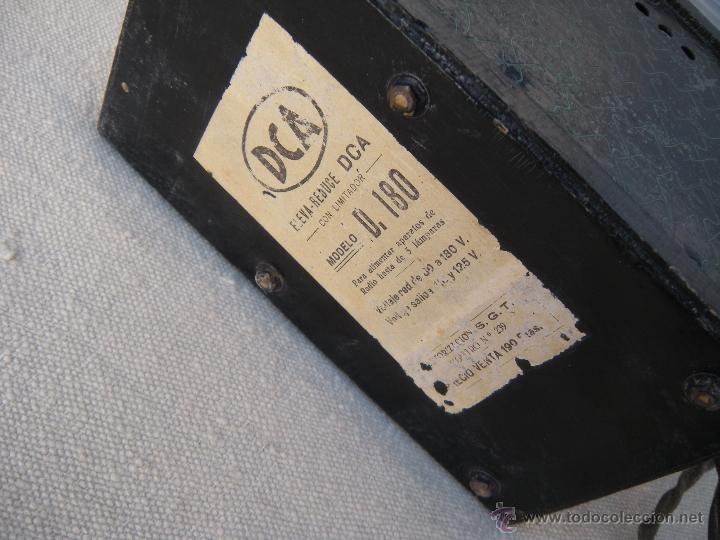 Radios antiguas: ANTIGUO ELEVADOR REDUCTOR CON LIMITADOR DE APARATO DE RADIO. DCA. - Foto 3 - 39767614