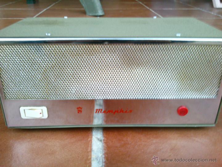 Radios antiguas: ANTIGUO TRANSFORMADOR MENPHIS.FABRICADO EN ESPAÑA - Foto 2 - 40097544