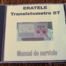 Radios Anciennes: MANUAL COMPROBADOR DE TRANSISTORES Y DIODOS ERATELE....SANNA. Lote 40532862