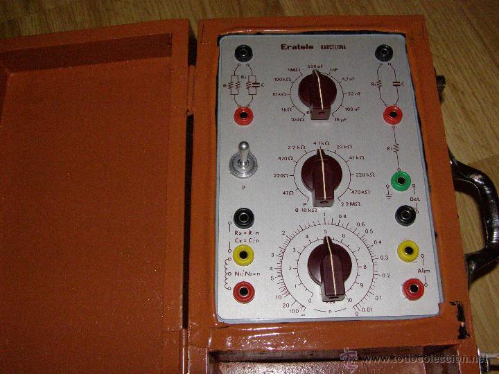 Radios antiguas: Eratel - Barcelona - Antiguo comprobador, simulador para tecnicos electrónicos reparadores de radio- - Foto 3 - 40623729