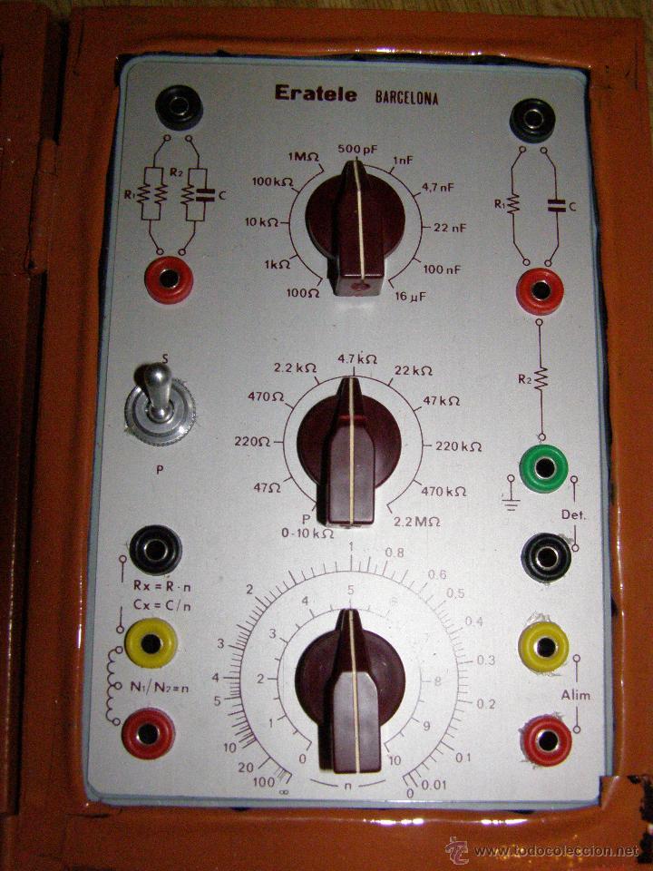 Radios antiguas: Eratel - Barcelona - Antiguo comprobador, simulador para tecnicos electrónicos reparadores de radio- - Foto 4 - 40623729