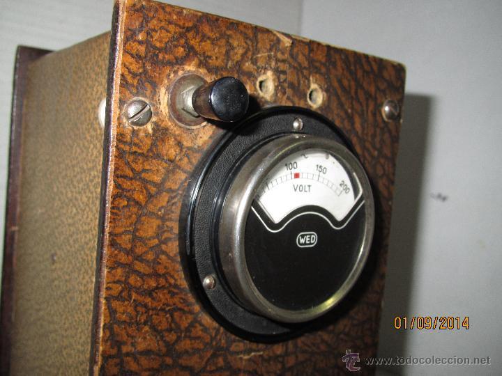 Radios antiguas: Antiguo Elevador Reductor de Radios Antiguas de Valvulas -Gran Tamaño y Completo - Año 1940-50s. - Foto 3 - 45056109