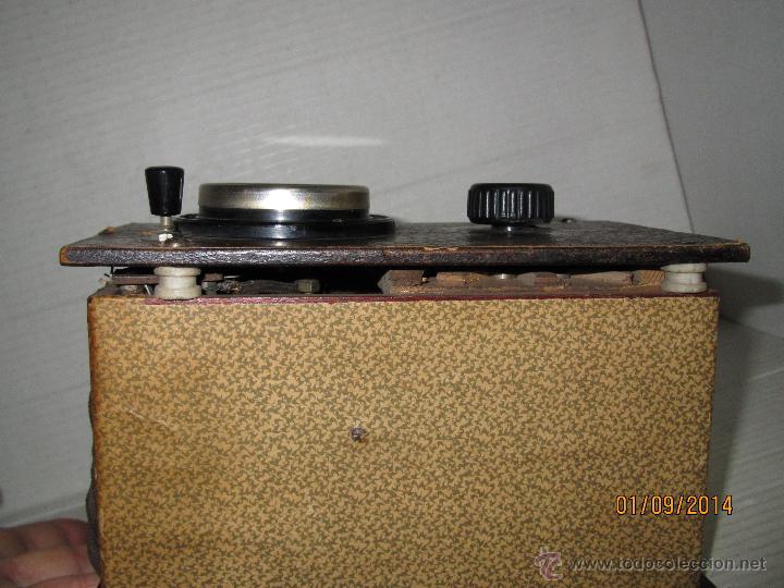 Radios antiguas: Antiguo Elevador Reductor de Radios Antiguas de Valvulas -Gran Tamaño y Completo - Año 1940-50s. - Foto 4 - 45056109