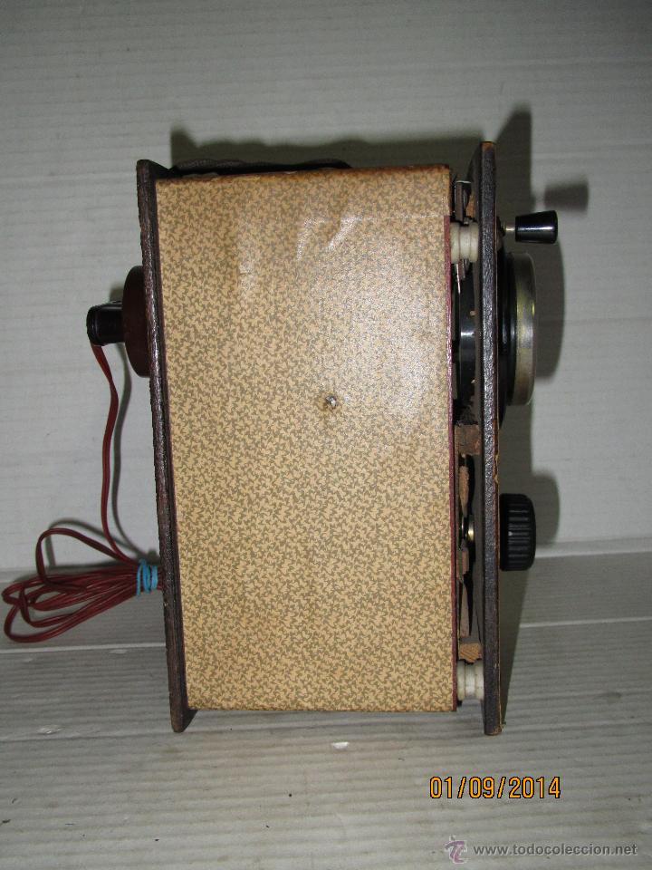 Radios antiguas: Antiguo Elevador Reductor de Radios Antiguas de Valvulas -Gran Tamaño y Completo - Año 1940-50s. - Foto 6 - 45056109