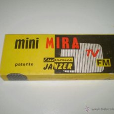 Radios antiguas: CURIOSA MINI MIRA ELECTRONICA JANZER PARA TV Y FRECUENCIA MODULADA(FM) SIN USO.. Lote 45998195