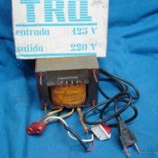 Radios antiguas: - AUTO TRANSFORMADOR TRQ ENTRADA 125 V. SALIDA 220 V. SIN USO. Lote 146160680