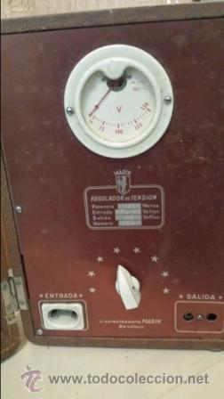 Radios antiguas: REGULADOR DE TENSION MARIN - Foto 2 - 47381385