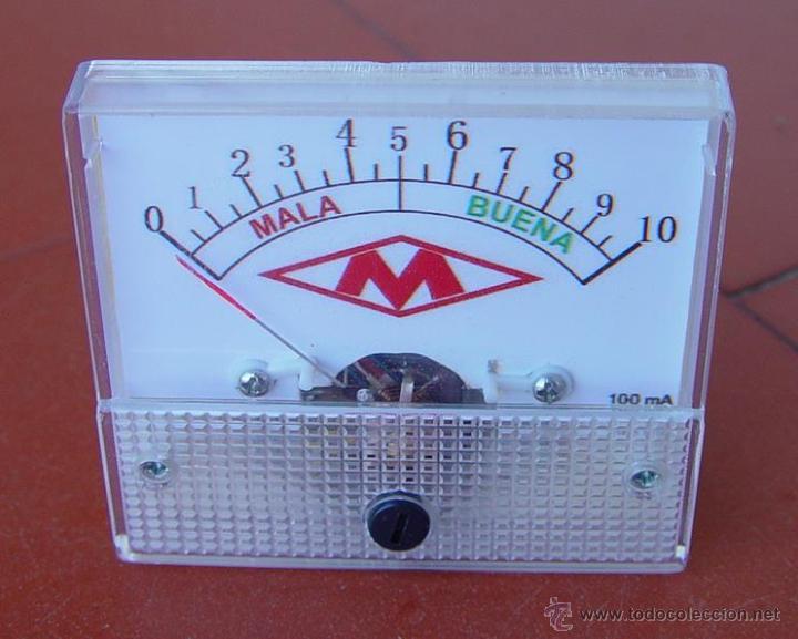 MILIAMPERIMETRO MEDIDOR PARA COMPROBADOR DE VALVULAS MAYMO....SANNA (Radios - Aparatos de Reparación y Comprobación de Radios)