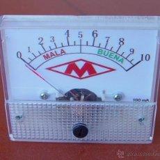 Radios antiguas: MILIAMPERIMETRO MEDIDOR PARA COMPROBADOR DE VALVULAS MAYMO....SANNA. Lote 47631376