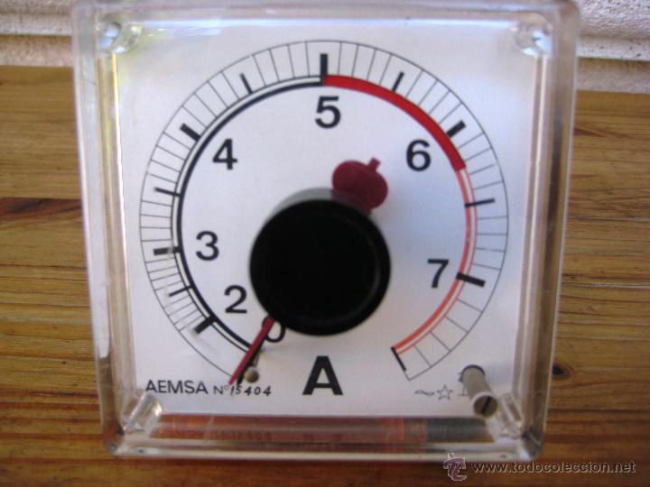 AMPERIMETRO 0-8 A. AMMETER VINTAGE. (Radios - Aparatos de Reparación y Comprobación de Radios)