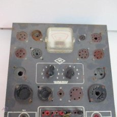 Radios antiguas: COMPROBADOR DE VÁLVULAS MAYMO. Lote 39666178
