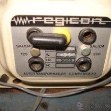 Radios antiguas: ANTIGUO TRANSFORMADOR COMPENSADO REGICON 125-220 V POTENCIA 350W. Lote 48428306