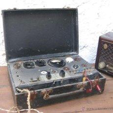 Radios antiguas: APARATO ANTIGUO COMPROBADOR DE VALVULAS DE RADIOS Y TV ESCUELA MAYMO EN MALETIN. Lote 52433468