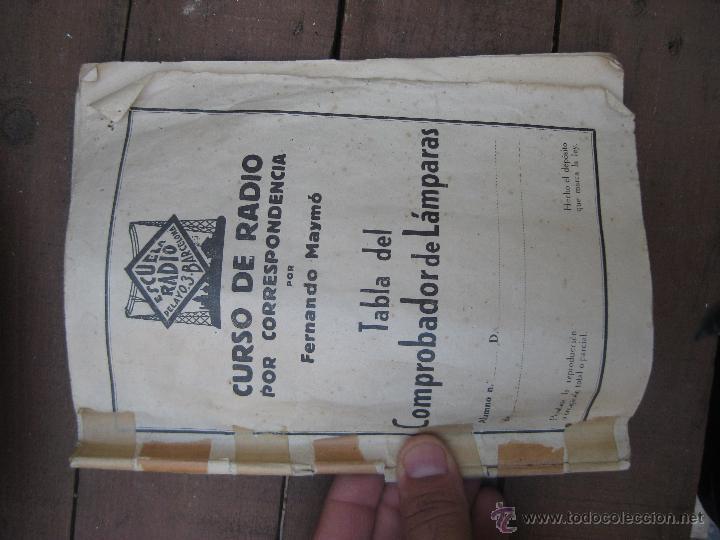 Radios antiguas: APARATO ANTIGUO COMPROBADOR DE VALVULAS DE RADIOS Y TV ESCUELA MAYMO EN MALETIN - Foto 5 - 52433468