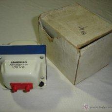Radios antiguas: AUTOTRANSFORMADOR REVERSIBLE MANUMAG 125-220/100 V - NUEVO. Lote 52626937