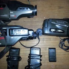 Radios antiguas: LOTE DE 3 CAMARAS DE VIDEO , VHS , SUPER 8 ,PARA REPARAR O PIEZAS..THOMSON, SANYO Y SONY. Lote 53390294