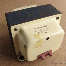 Radio antiche: TRANSFORMADOR RECTIFICADOR DE CORRIENTE DE 125 V A 220 V O VICEVERSA 220V A 125V - 750 W MANUMAG. Lote 55010782