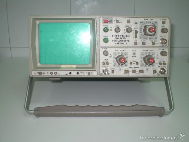 ESTUPENDO OSCILOSCOPIO HAMEG HM-303-3 DE 30MHZ ¡¡¡FUNCIONA!!!!. (Radios - Aparatos de Reparación y Comprobación de Radios)