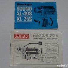 Radios antiguas: MANUAL DE INSTRUCCIONES SANKYO Y EUMIG FILMADORA Y PROYECTOR RESPECTIVAMENTE. Lote 62759752