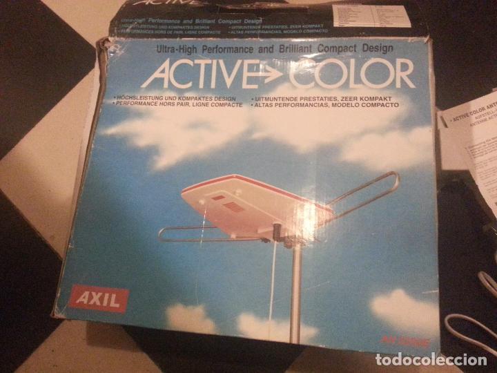 Radios antiguas: receptor ondas de antena de exterior para caravanas , radop tv active color en su caja , ver fotos - Foto 5 - 67178673
