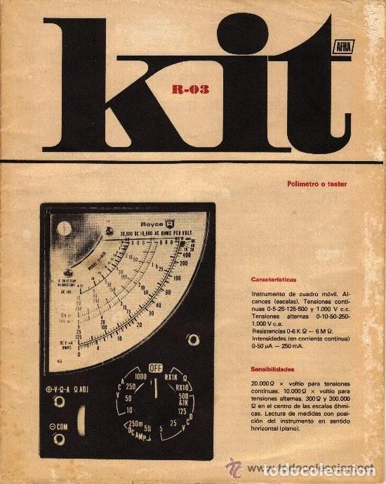 Radios antiguas: TESTER AFHA KIT R-03 POLIMETRO CURSO DE ELECTROTECNIA RADIO Y TV - Foto 6 - 146192802