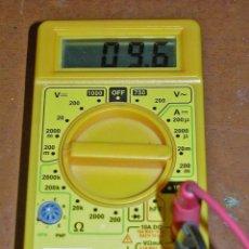 Radios antiguas: TESTER O MULTIMETRO DIGITAL MARCA SILVER CON COMPROBADOR DE TRANSISTORES.. Lote 75154723